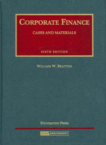 Corporate Finance Cases and Materials 6th 2008 (Revised) edition cover