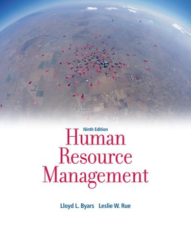 Human Resource Management  9th 2008 edition cover