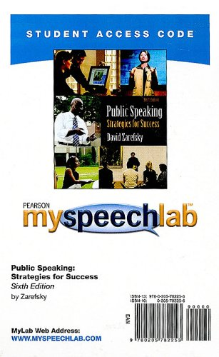 Public Speaking Strategies for Success 6th 2011 9780205782253 Front Cover