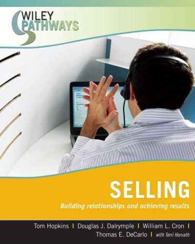 Wiley Pathways Selling Building Relationships and Achieving Results  2008 edition cover