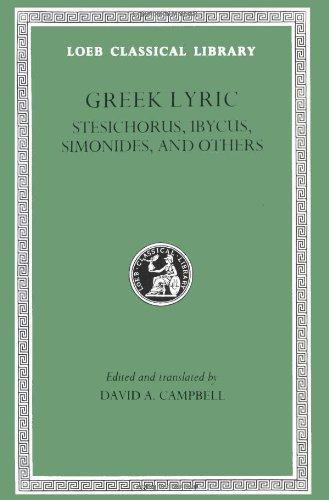 Greek Lyric Stesichorus, Ibycus, Simonides, and Others  1991 edition cover