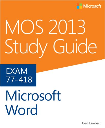 MOS 2013 Study Guide for Microsoft Word   2014 edition cover