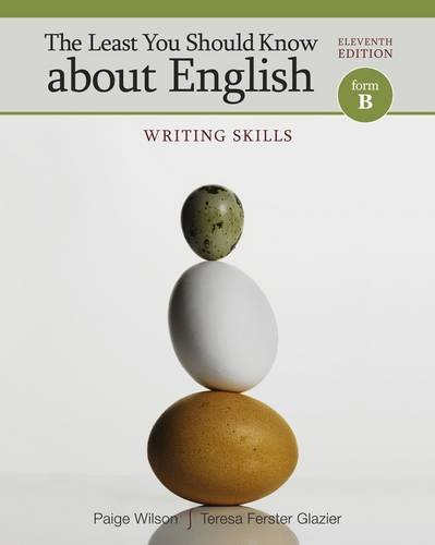 Least You Should Know about English Writing Skills, Form B 11th 2013 9781111350253 Front Cover