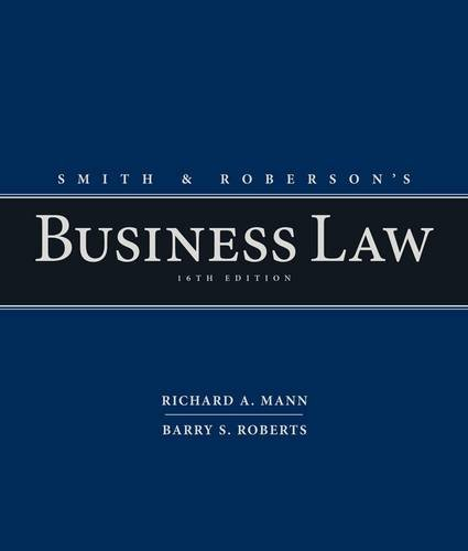 Smith and Roberson's Business Law:   2014 9781285428253 Front Cover