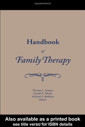 Handbook of Family Therapy The Science and Practice of Working with Families and Couples  2003 edition cover