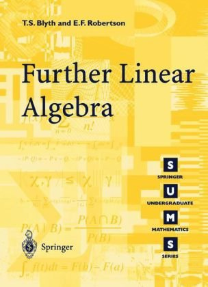 Further Linear Algebra   2002 9781852334253 Front Cover