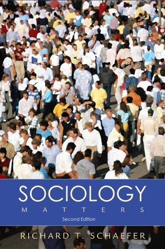 Sociology Matters with PowerWeb  2nd 2006 edition cover