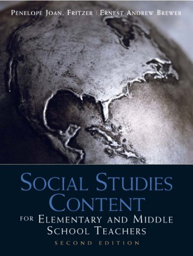 Social Studies Content for Elementary and Middle School Teachers  2nd 2010 edition cover