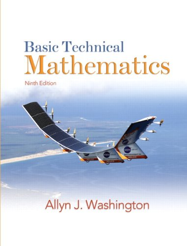 Basic Technical Mathematics  9th 2009 edition cover