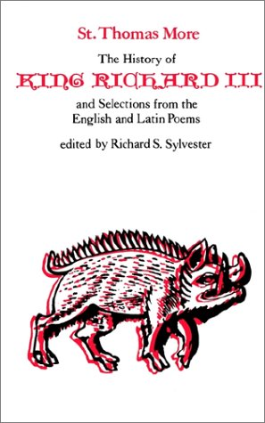 History of King Richard III and Selections from the English and Latin Poems   1976 edition cover