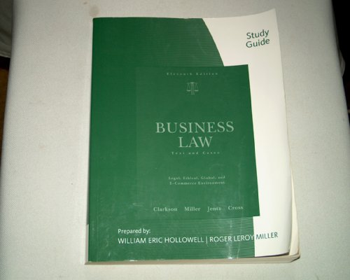 Business Law Text and Cases 11th 2009 (Guide (Pupil's)) edition cover