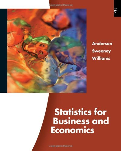 Statistics for Business and Economics  11th 2009 edition cover