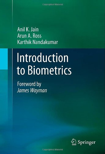 Introduction to Biometrics   2011 edition cover