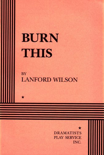 Burn This   1998 edition cover