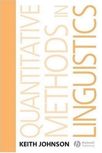 Quantitative Methods in Linguistics   2008 edition cover