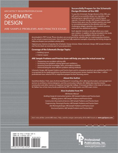 Schematic Design ARE Sample Problems and Practice Exam  2008 edition cover