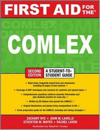 First Aid for the COMLEX, Second Edition  2nd 2009 (Student Manual, Study Guide, etc.) 9780071600255 Front Cover