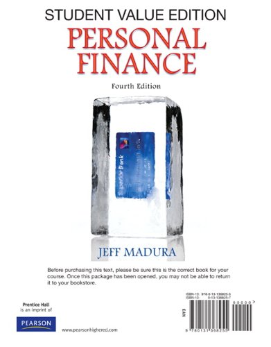 Personal Finance, Student Value Edition  4th 2011 edition cover