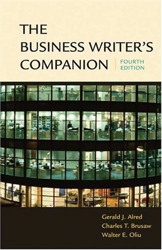 Business Writer's Companion  4th 2005 9780312413255 Front Cover