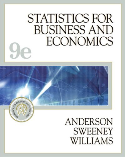 Statistics for Business and Economics (With Student CD-ROM, Ipod Key Term, and Infotrac)  9th 2005 edition cover