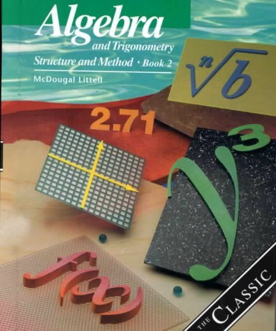 Algebra and Trigonometry Structure and Method  2000 (Student Manual, Study Guide, etc.) 9780395977255 Front Cover