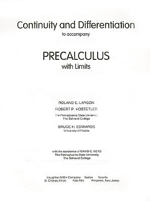Continuity and Differentiation   1996 9780669418255 Front Cover