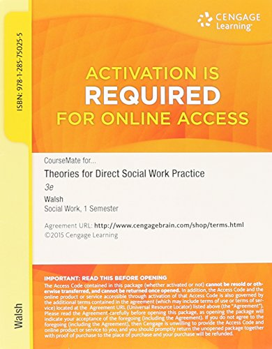 THEORIES F/DIRECT SOCIAL WORK...-ACCESS N/A 9781285750255 Front Cover