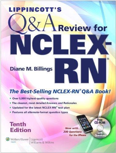 Lippincott's Q&A Review for NCLEX-RN  10th (Revised) edition cover