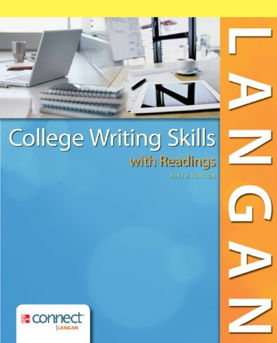 Langan's College Writing Skills With Readings Connect Access Card:   2013 edition cover