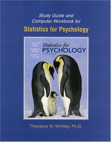 Statistics for Psychology  5th 2009 (Student Manual, Study Guide, etc.) edition cover