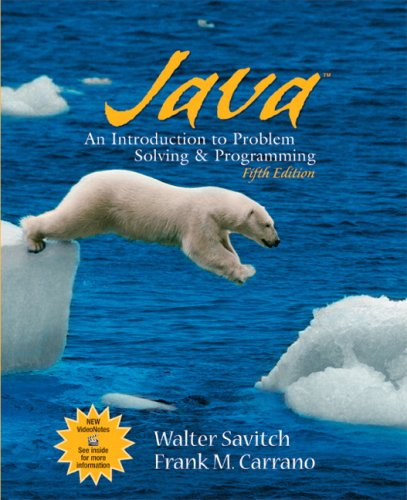 Java Introduction to Problem Solving and Programming 5th 2009 edition cover