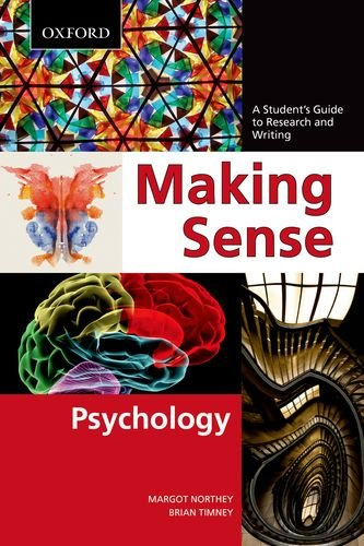 Making Sense in Psychology A Student's Guide to Research and Writing  2012 edition cover