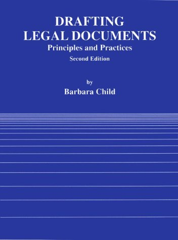 Drafting Legal Documents Materials and Problems 2nd 1992 (Revised) edition cover