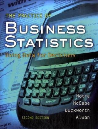 Practice of Business Statistics  2nd 2008 edition cover
