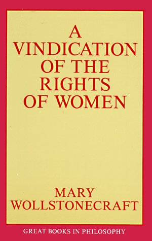 Vindication of the Rights of Woman  Unabridged edition cover