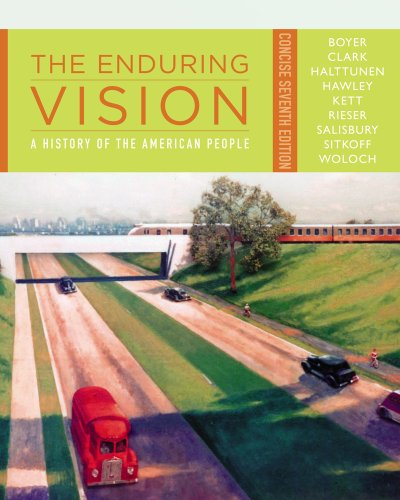 Enduring Vision A History of the American People, Concise 7th 2013 edition cover