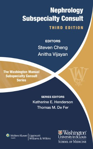 Nephrology Subspecialty Consult  3rd 2012 (Revised) edition cover