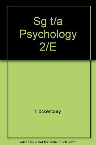 Psychology 2nd 2000 (Student Manual, Study Guide, etc.) 9781572598256 Front Cover