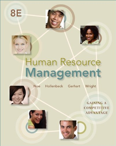 Human Resource Management Gaining a Competitive Advantage 8th 2013 edition cover
