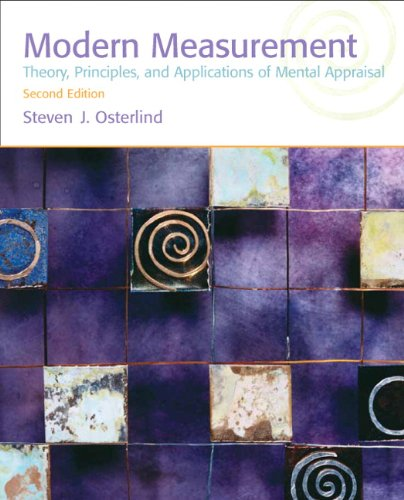 Modern Measurement Theory, Principles, and Applications of Mental Appraisal 2nd 2010 edition cover