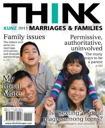 THINK Marriages and Families   2011 9780205739257 Front Cover