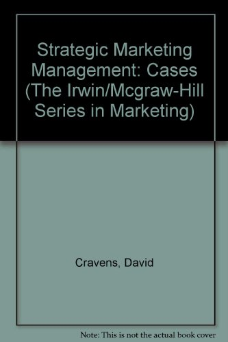 Strategic Marketing Management Cases 6th 1999 9780256261257 Front Cover