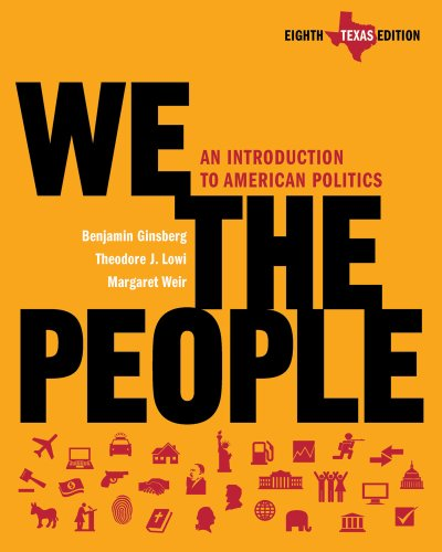 We the People An Introduction to American Politics 8th 2011 edition cover