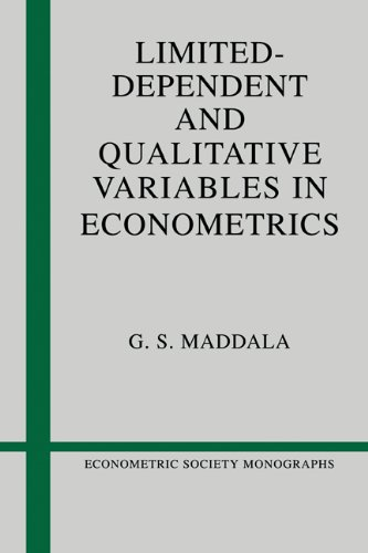 Limited-Dependent and Qualitative Variables in Econometrics   1986 9780521338257 Front Cover