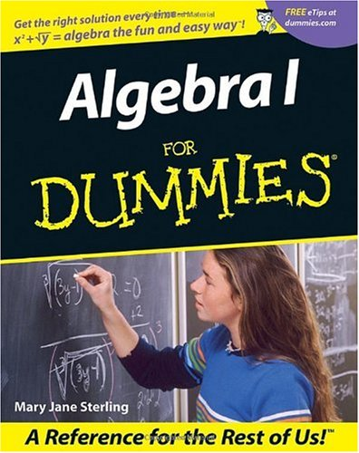 Algebra I for Dummies   2001 edition cover