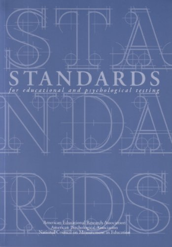 Standards for Educational and Psychological Testing   2015 edition cover