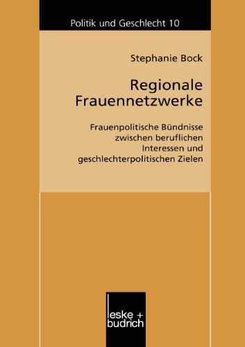 Regionale Frauennetzwerke   2002 9783810035257 Front Cover