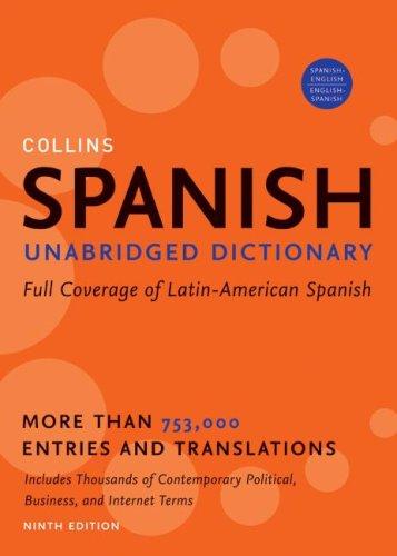 Spanish Unabridged Dictionary  9th 2009 (Unabridged) edition cover