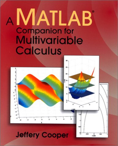 Matlab Companion for Multivariable Calculus   2001 edition cover