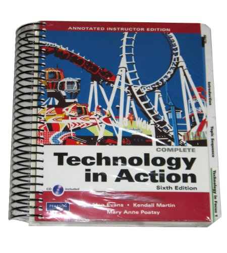 TECHNOLOGY IN ACTION,COMP-W/2CD >INSTR< N/A 9780135046258 Front Cover
